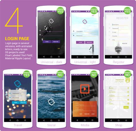 android studio layout animation material design ui android template app material design