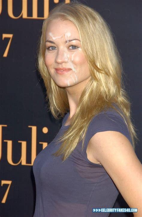 Yvonne Strahovski Public Cum Facial Fake CelebrityFakes U Com