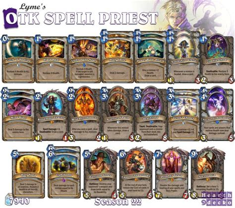 hearthstone priest deck build 52 best images about hearthstone priest decks on