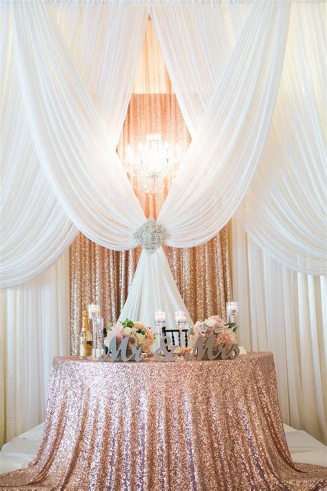 Table Drape by Gorgeous Pipe And Drape Backdrop To A Half Moon Sweetheart