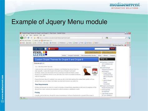 drupal theme jquery theming drupal menus