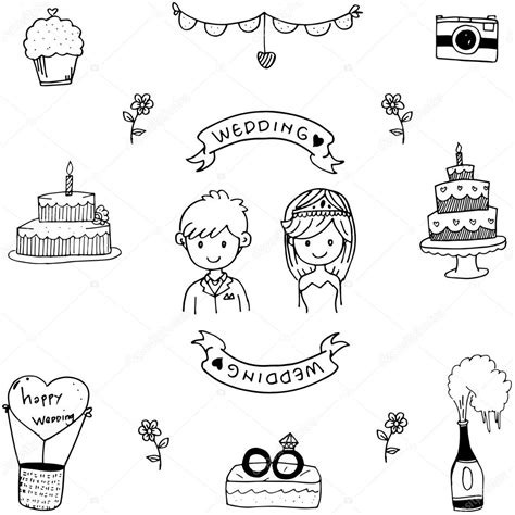 Wedding Doodle by Wedding Doodle Vector Stock Vector 169 Wongsalam77