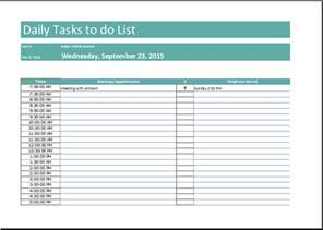 daily work task template daily task list template free to do list