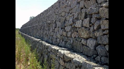 gabion wire mesh wall basket retaining wall rock stone