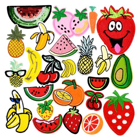 applique iron ᗖdiy fruit patches for clothing ᗗ iron iron embroidered