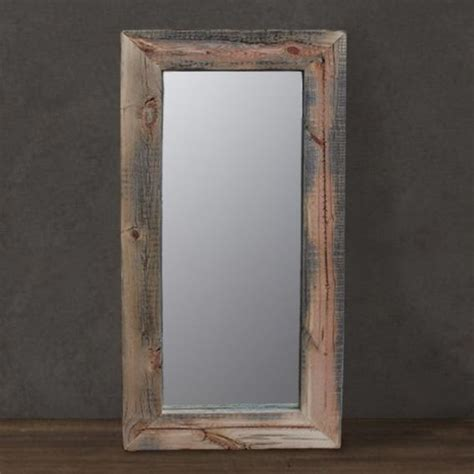 custom made reclaimed wood mirror floor or wall mount