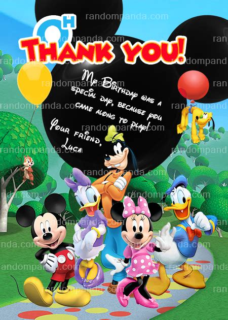 mickey mouse clubhouse invitation minnie mouse