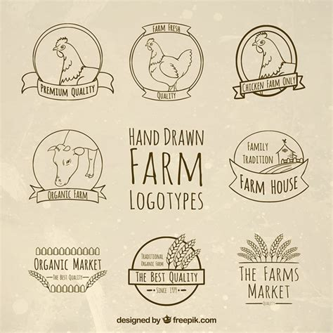 farm template farm logotypes templates vector free