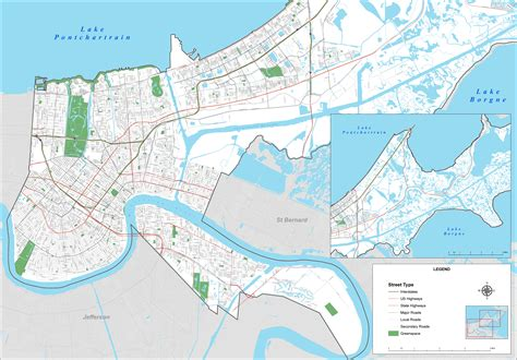 new on the map new orleans map