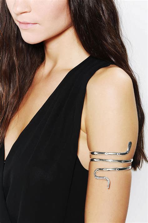 Urban outfitters Natalie B Doubleswirl Armband Bracelet in Metallic   Lyst