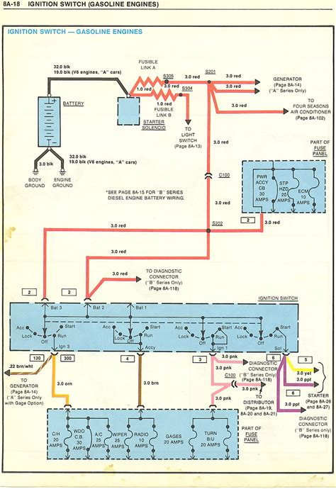 1989 chevy k1500 ignition switch wiring diagram wiring