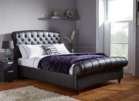 black bed frames ellis black split leather bed frame dreams