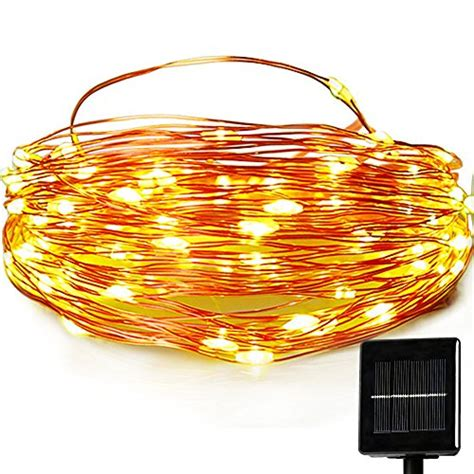 Outdoor Solar Powered String Lights Easydecor Copper Wire Outdoor Decorative Solar Lights