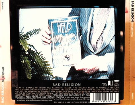 Cd Bad Religion No Subtance no substance discography the bad religion page since