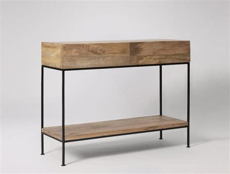 industrial style console table top 10 console tables with storage for small spaces