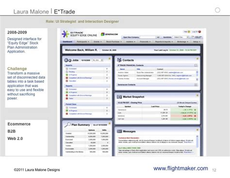 Stock Plan Administrator by Etrade By Malone At Coroflot