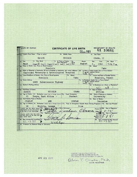 Hawaii Birth Records Obama Rejected 50 Million For His Birth Records