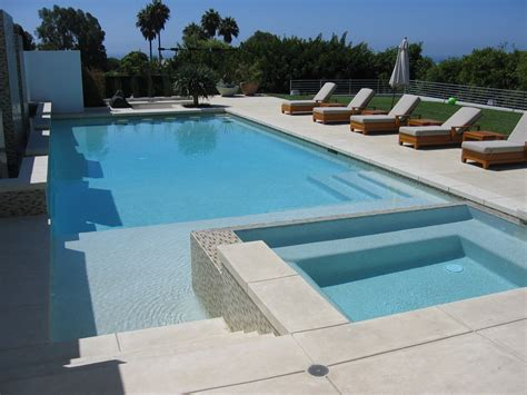 contemporary pools chic sted concrete cost convention los angeles