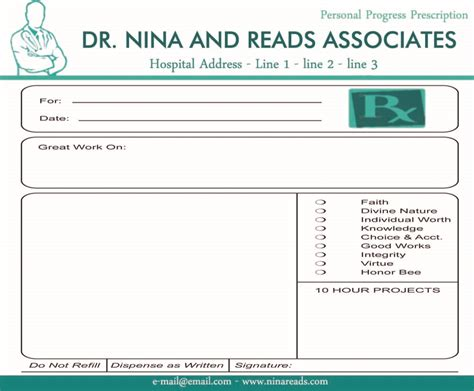 blank prescription pad image sle ninareads com