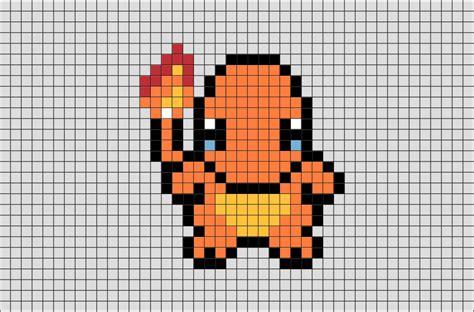 charmander pixel template charmander pixel images images