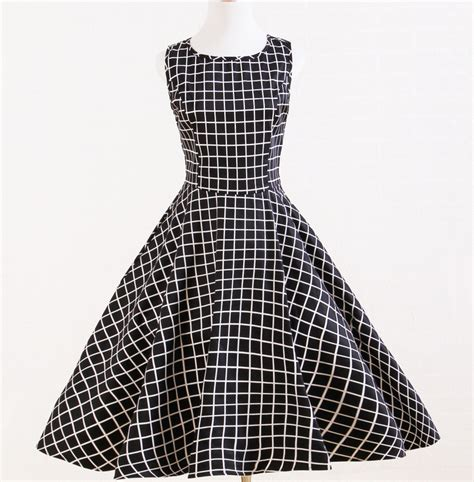 aliexpress buy vintage styled plaid black white uk