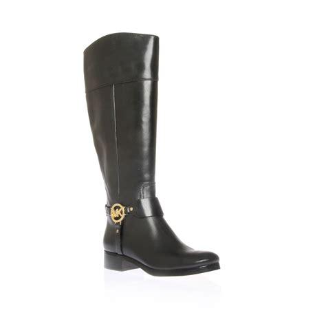 mk boots lyst michael michael kors fulton harness boots in black