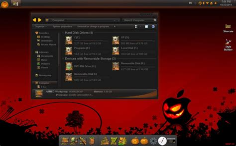 win 7 halloween themes haloween skin pack readies windows 7 for halloween