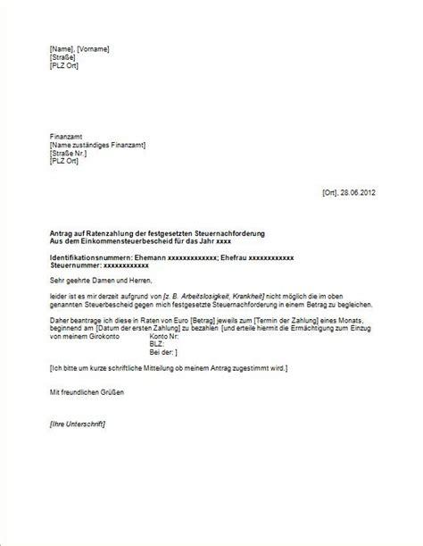 Antrag Verlustrücktrag Vorlage Antrag Auf Ratenzahlung F 252 Rs Finanzamt Vorlagen Und Muster Vom Gr 252 Nderlexikon