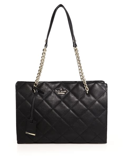 Kate Spade Black Quilted Purse by Kate Spade New York Emerson Place Quilted Leather Tote In