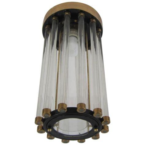 vintage modern black and gold deco flush mount light