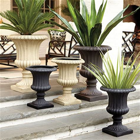 Outdoor Pots And Urns Large Grecian Urn Traditional Outdoor Pots And