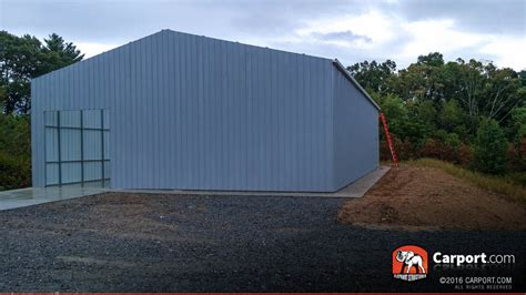 80s Garage by Metal Building With Commercial Grade Steel Framing 40 X