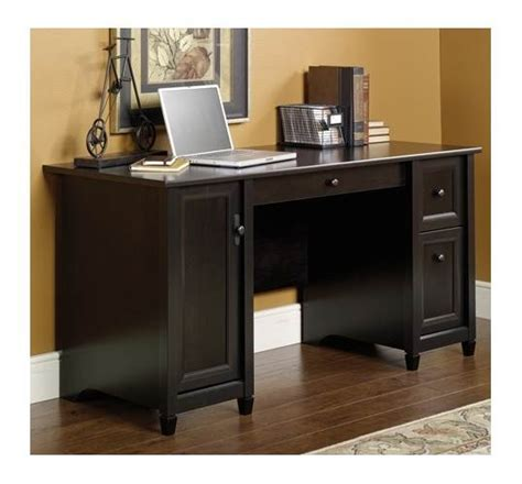 sauder edge water computer armoire sauder edge water computer desk in estate black finish