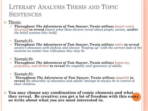 topics for ma thesis in literature ppt literary analysis essay powerpoint presentation id