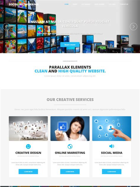 Social Networking Html Template Social Networking Website Templates Dreamtemplate Social Media Site Template