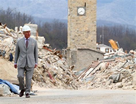 earthquake qatar prince charles visits earthquake hit italian town the