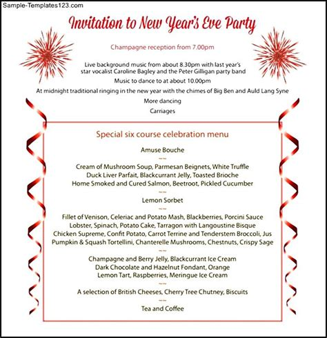 Invitation Letter New Year Invitation To New Year Pdf Sle Templates