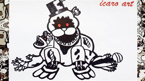 five nights at freddy s coloring book great coloring pages for and adults unofficial edition books como dibujar a golden freddy nightmare how to draw