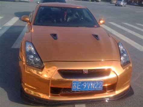 gold nissan car bling nissan gt r is very gold in china carnewschina com