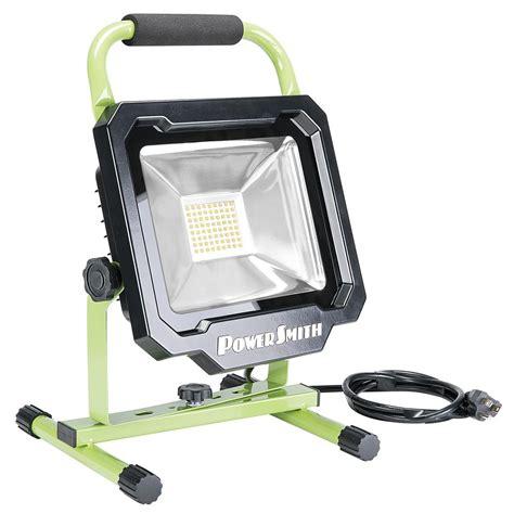 powersmith led work light powersmith 3750 lumen led portable work light pwl1136bs