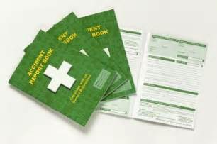 First Aid Report Form Template accident book accident folder accident report book