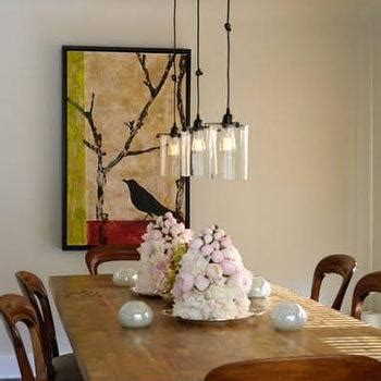 roost glass cylinder pendant contemporary dining room island dining table contemporary dining room house