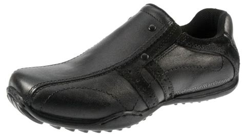 boys redtape walkham casual black leather school shoes uk