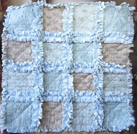 Rag Quilt Baby by Baby Boy Quilt Blue And Grey Minky Blanket Mini Rag Quilt