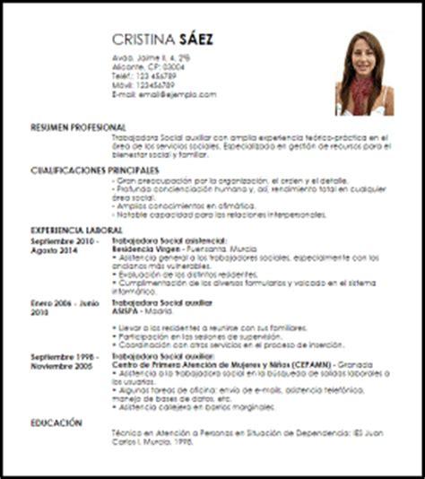Ejemplo De Curriculum Vitae Trabajo Social Modelo Curriculum Vitae Trabajadora Social Auxiliar Livecareer