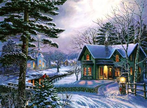 winter cottage cottage in winter other abstract background wallpapers