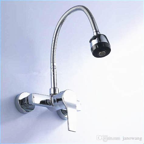 2018 single handle wall mount kitchen faucet with sprayer