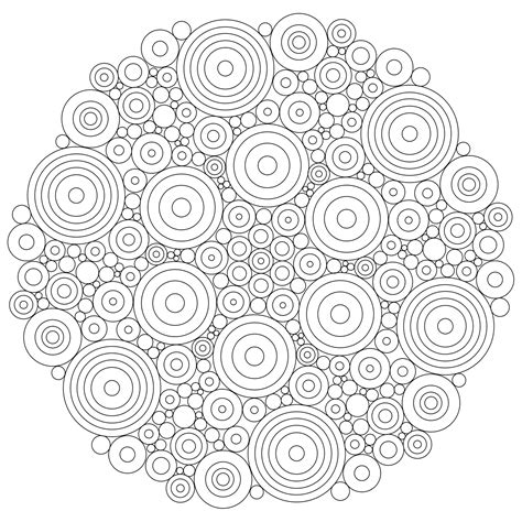 round mandala coloring pages don t eat the paste circles mandala