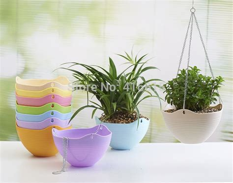 Am046 Limited Bunga Plastik Hias plastic resin thickening bracketplant flowerpot with