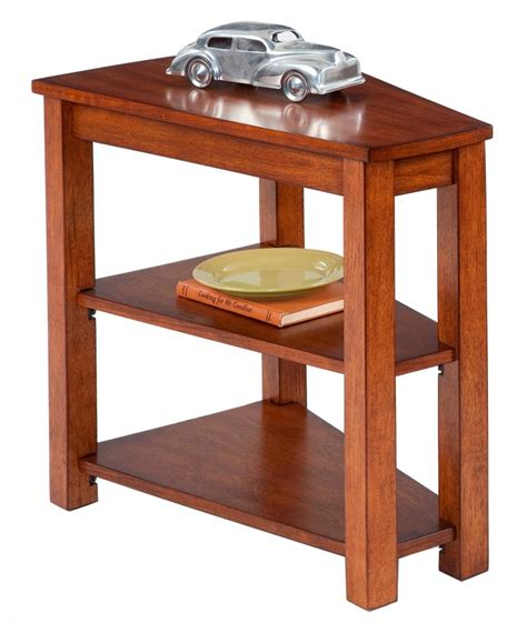 wedge chairside table with drawer engraving wedge shaped end table with shelf and drawer